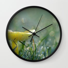 Mushroom In The Grass After A Rain... Wall Clock
