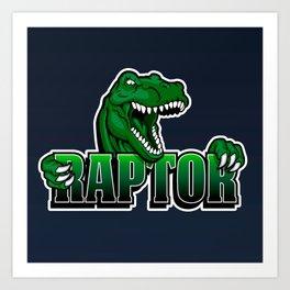 cartoon raptor Art Print