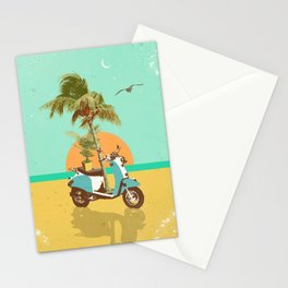SCOOTER TROPICS Stationery Cards