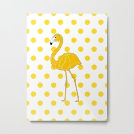 Yellow Flamingo  - Bird Metal Print