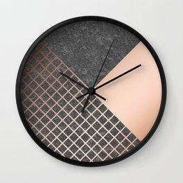 Copper & Concrete 05 Wall Clock
