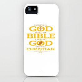 Funny Jesus Bible God Christian Quote Meme Gift iPhone Case