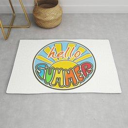 Hello Summer, colorful sticker, Summer sticker, summer t shirt, Rug