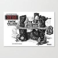 ewok Canvas Prints featuring Ewok Village by foreverwars