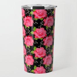 Hot Pink Roses Travel Mug