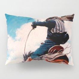 "Vintage Western Painting ""Bucking"" by N C Wyeth Pillow Sham"