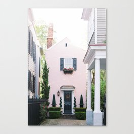 Charleston Pink House Canvas Print