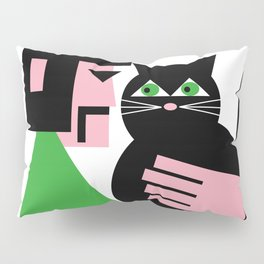 CAT WITH HIS LAD Pillow Sham