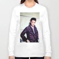 elvis presley Long Sleeve T-shirts featuring Elvis Presley by Neon Monsters