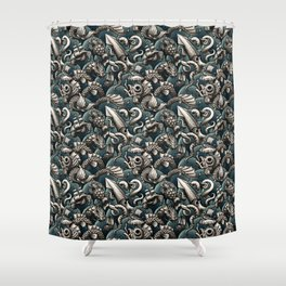 Sea Monsters Shower Curtain