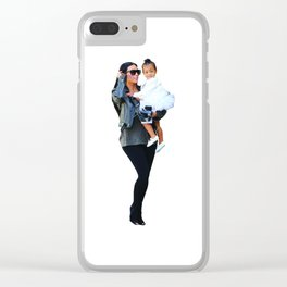 Kim and North Clear iPhone Case