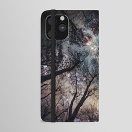Starry Sky in the Forest iPhone Wallet Case