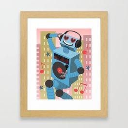 Robot DJ Framed Art Print