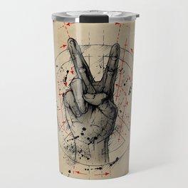 Anatomy of the Peace Sign Travel Mug