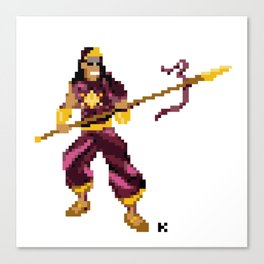 God of War - Karthikeya Pixel Art Canvas Print