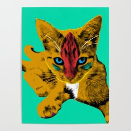 Loli Garfield Green Poster