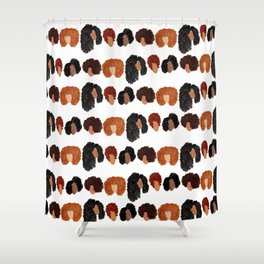 Natural Hair Girls Shower Curtain