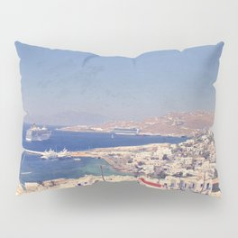 The Blue Tones of Mykonos Pillow Sham