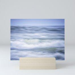 Brush Strokes of the waves Mini Art Print