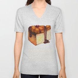 Pineapple Upside-Down Cake Slice Unisex V-Neck