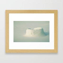 Isolated Igloo. Framed Art Print
