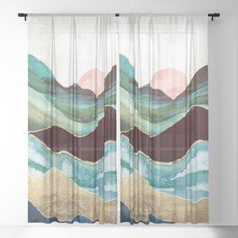 Velvet Mountains Sheer Curtain