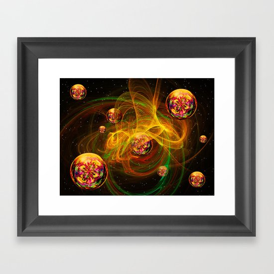 Chaos creating Universe Abstract Fantasy Framed Art Print
