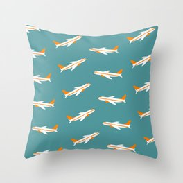 Planes in the Sky Throw Pillow