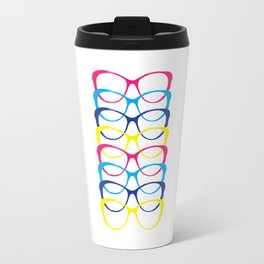 For the love of color and glasses Travel Mug