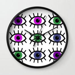 Open Your Eyes - Festival Pattern Wall Clock
