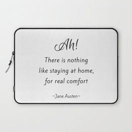 Jane Austen - Home Laptop Sleeve