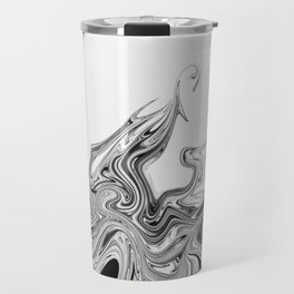 Modern contemporary Black and White Abstract Travel Mug