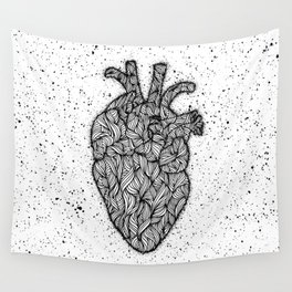 Psychedelic Hearts Wall Tapestry