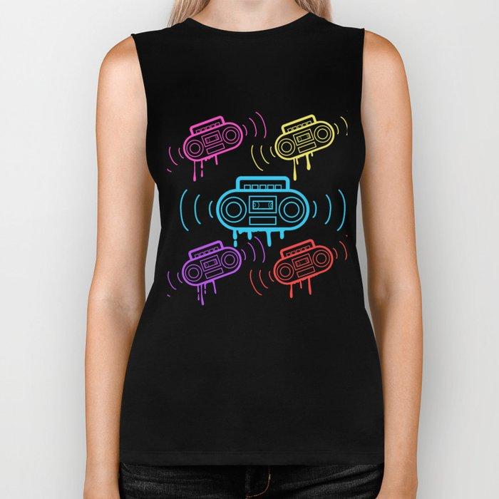 Here's A Great 80's design A Colorful 80's Design Saying Cassette T-shirt Design Vitage Retro Biker Tank