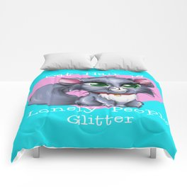 Cat Hair is Lonely People Glitter Comforters