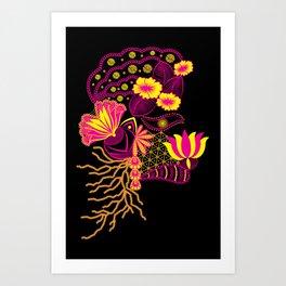 The Florist (Black) ! Art Print