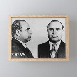 Al Capone Mugshot Framed Mini Art Print