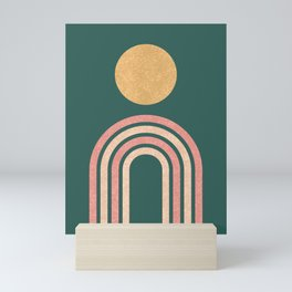 Mid century modern - green Mini Art Print