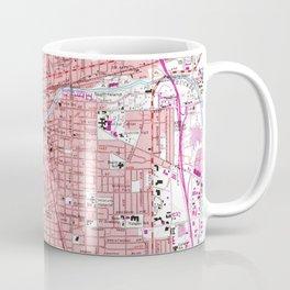 Vintage Map of Reno Nevada (1967) Coffee Mug