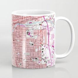 Vintage Map of Reno Nevada (1967) Coffee Mug