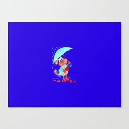 Dog Zahar and Autumn Canvas Print