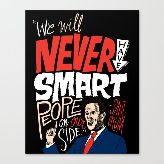 No Smart People Canvas Print