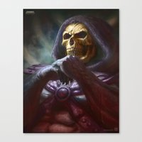 skeletor Canvas Prints featuring Skeletor by ImmarArt