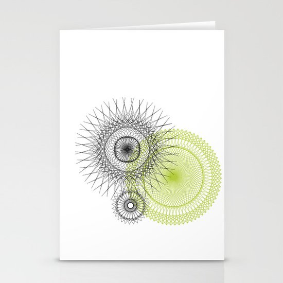 Modern Spiro Art #3 Stationery Cards