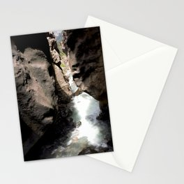 Looking Out toward Ouray from Box Canyon Falls Stationery Cards