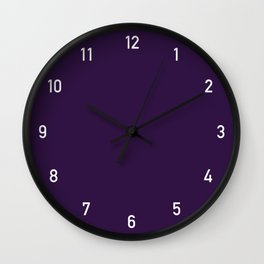 Numbers Clock - Purple Wall Clock
