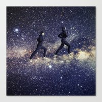running Canvas Prints featuring Running by Cs025