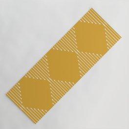Geo (Yellow) Yoga Mat