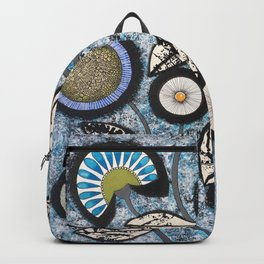 Lovely Flowers Blue Backpack