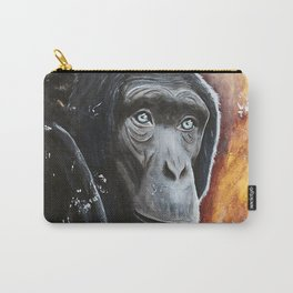 Chimpanzee - Wisdom - by LiliFlore Carry-All Pouch